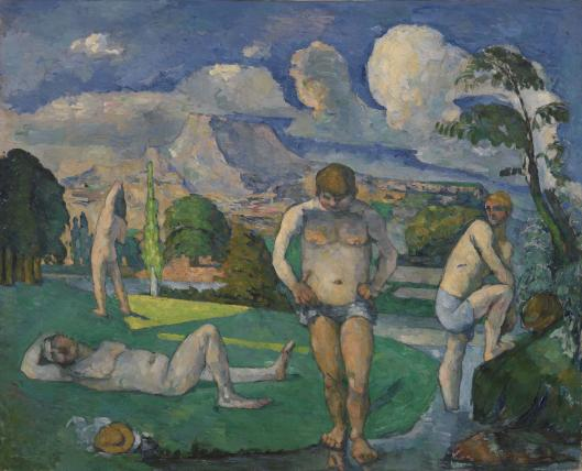 Baigneurs au repos BAthers at rest Barnes 1876 7  oil on canvas