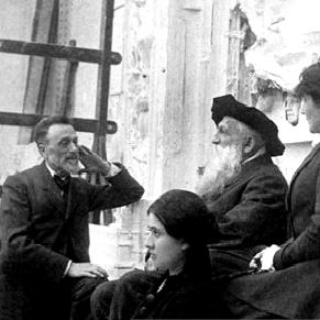 Léonce Bénédite (1856 - 1925), at left, curator for the Caillebotte Bequest.