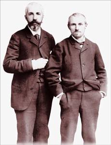 Martial Caillebotte (1853–1910), photographer and composer, with brother Gustave Caillebotte (1848-1894), artist, collector and arts organizer.