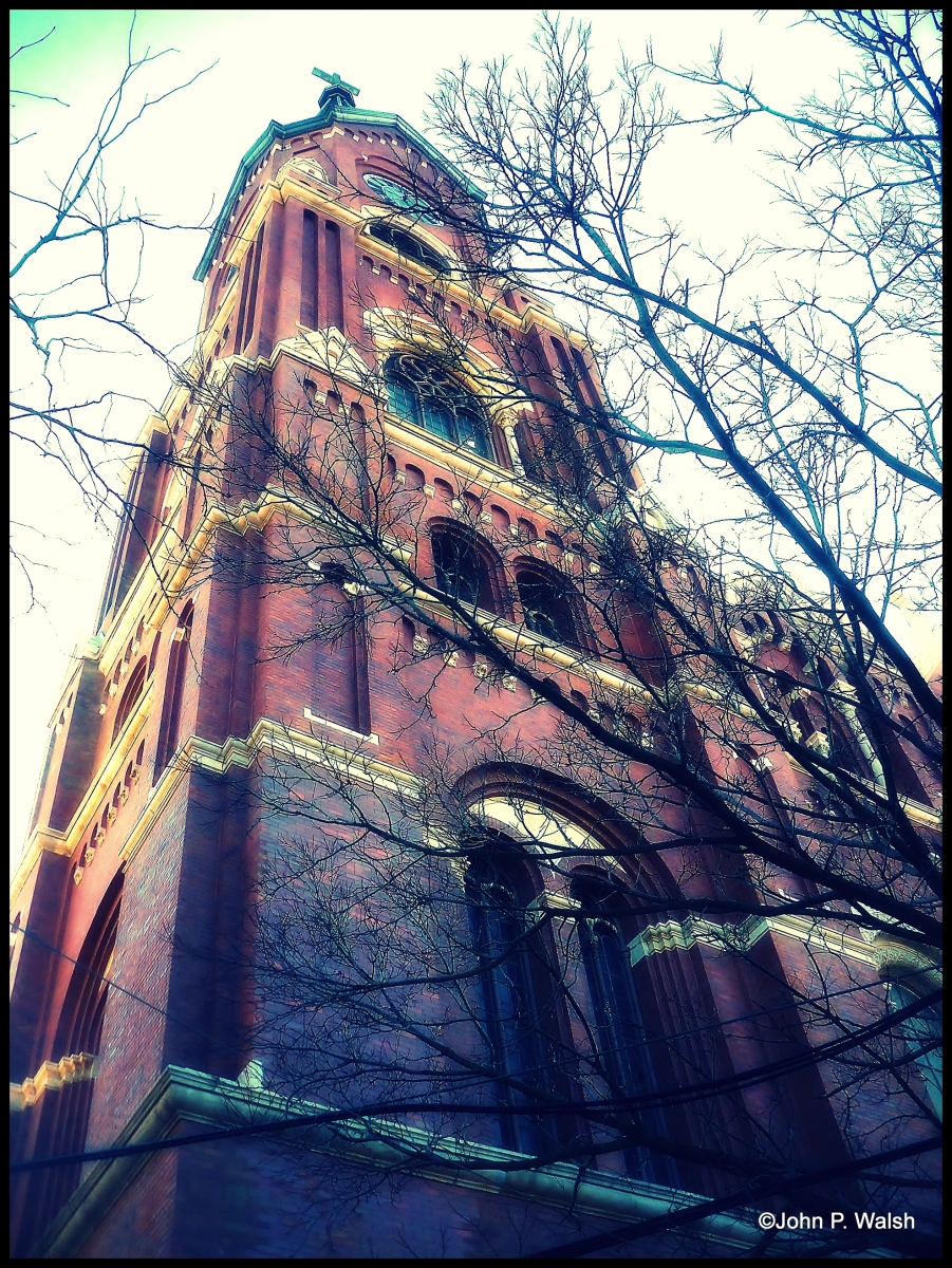 Chicago's Oldest German Parish (1852): St Michael Church in Old Town.