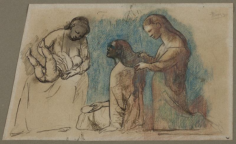Picasso, Study for La Coiffure, 1906.