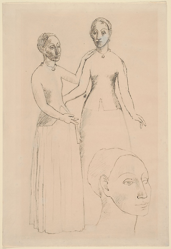 Picasso, Peasant Girls from Andorra, late summer 1906.