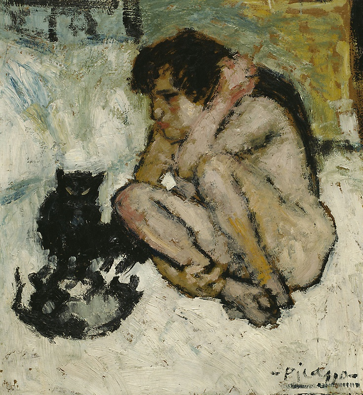 Picasso, Crazy Woman with Cats, 1901.