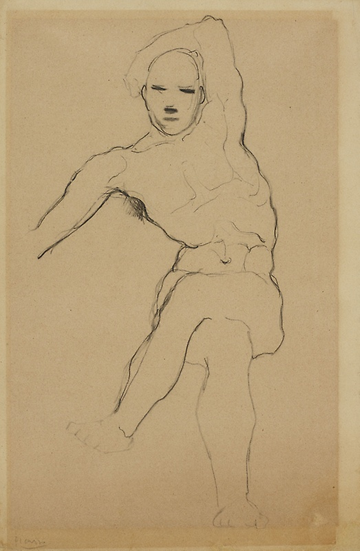 Picasso, Study of a Seated Man, 1905