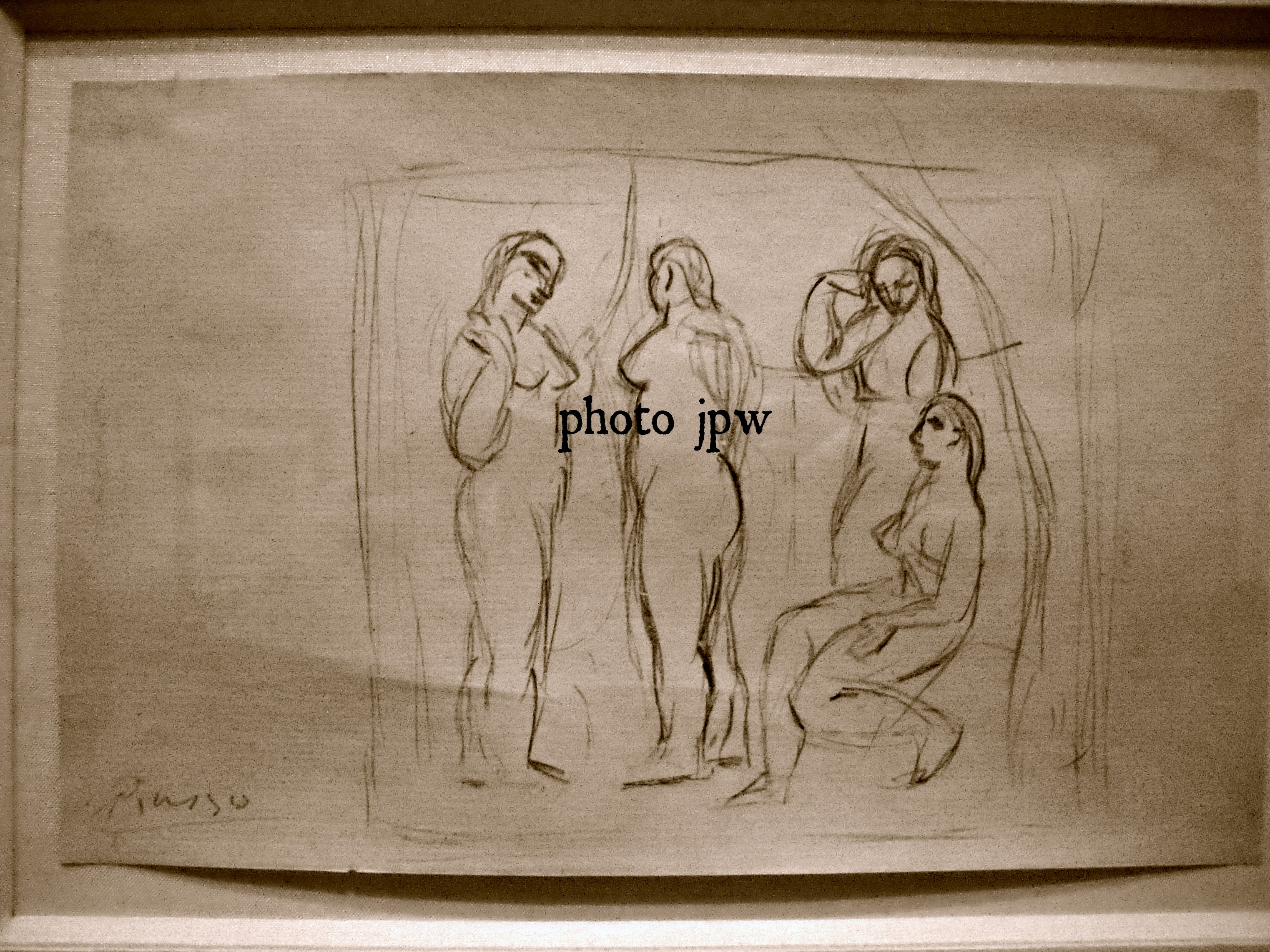 Picasso, Study of Four Nudes, Paris, 1906-07.