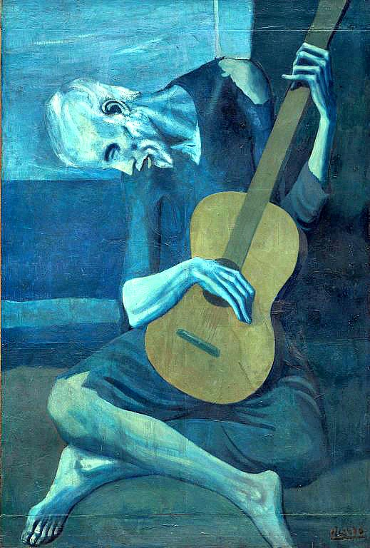 Picasso, The Old Guitarist, 1903–1904.