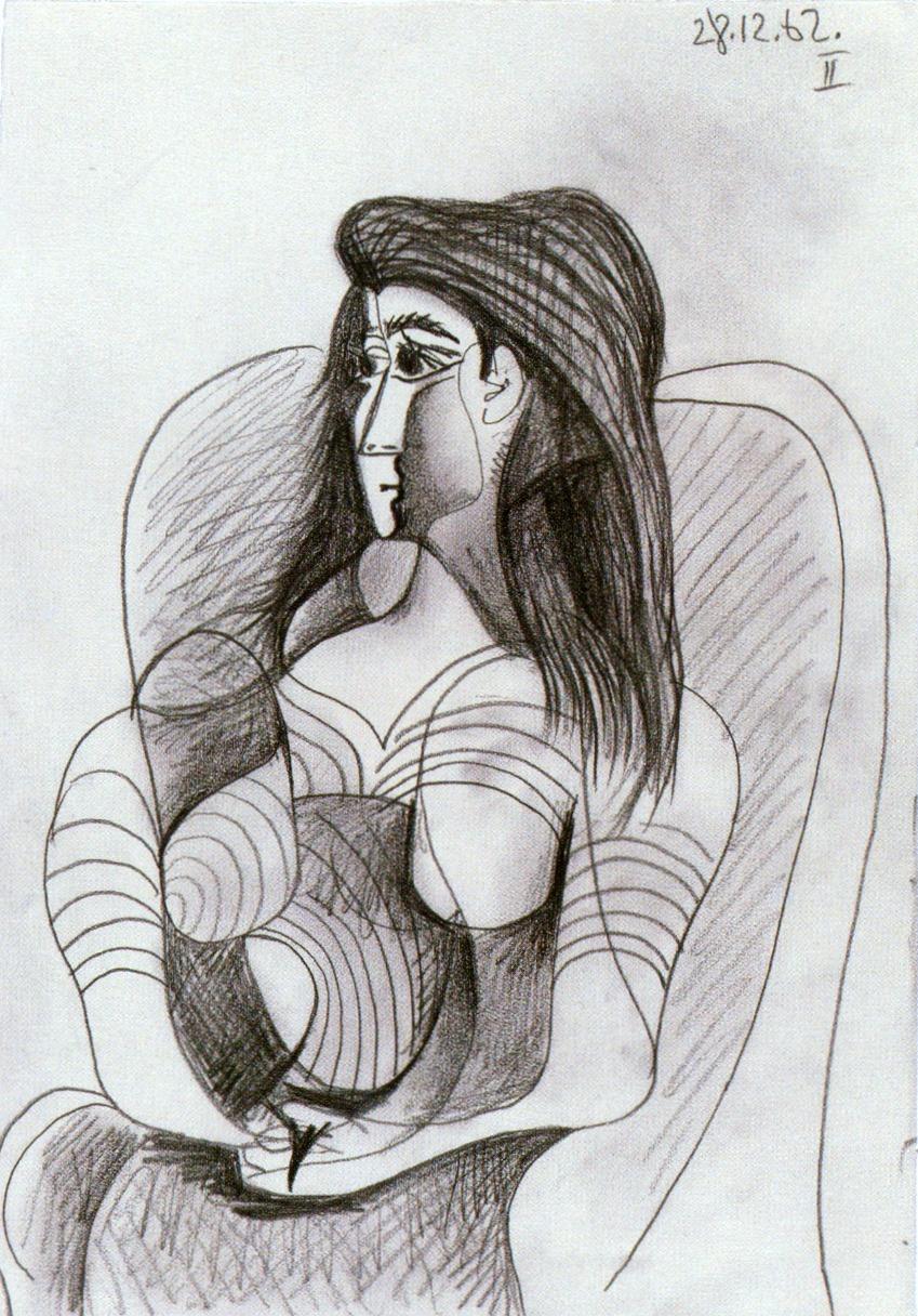 Picasso Jacqueline 1962