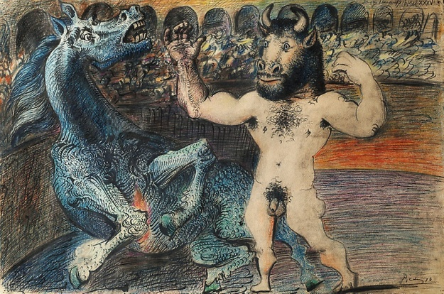 Picasso, Minotaur and horse, 1935