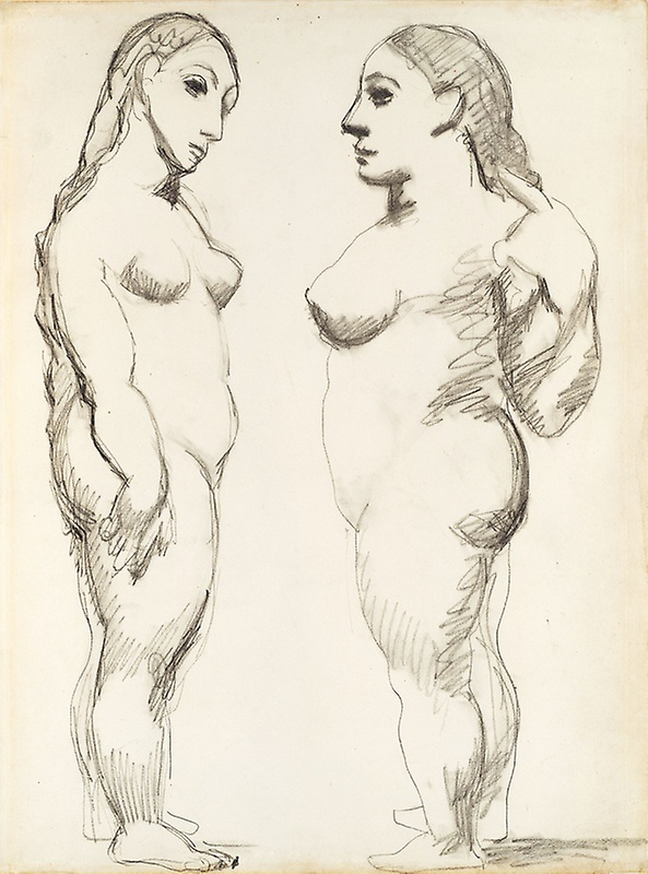 Picasso, Two Nudes, Standing, fall 1906.