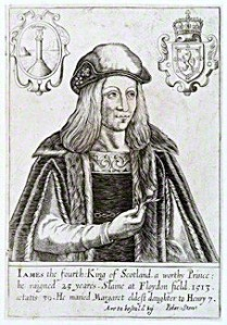 James IV of Scotland (1473-1513). Published by Peter Stent, line engraving, c.1643-1667. 6 7/8 in. x 4 3/4 in. (176 mm x 122 mm) paper size Given to the National Portrait Gallery, London, by Sir Herbert Henry Raphael, 1st Bt, 1916.