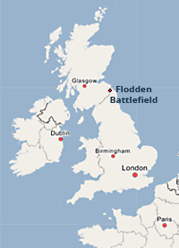 The Battle of Flodden Field was fought in the county of Northumberland in northern England on September 9, 1513, between an invading Scots army under King James IV and an English army commanded by the Earl of Surrey.