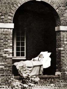 Sick Thérèse one month before her death, August 30, 1897.