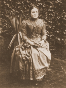 Céline (1869-1959) was four years older than Thérèse and closest in age. She entered the Carmel in Lisieux after Thérèse did and took the name Sister Geneviève of the Holy Face.