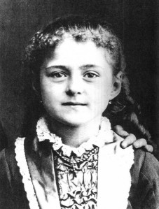 Thérèse Martin at 8 years old in 1881.