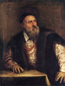 Titian: Self portrait, c. 1550, Gemäldegalerie, Berlin.