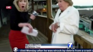 A shot from the shooting of Alison Parker and Adam Ward.