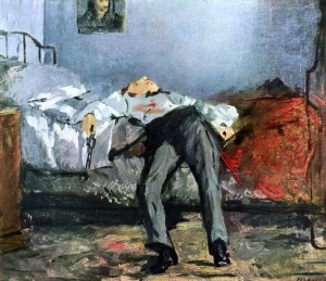 The Suicide by Édouard Manet, c. 1880, Foundation E.G. Bührle, Zurich, Switzerland.