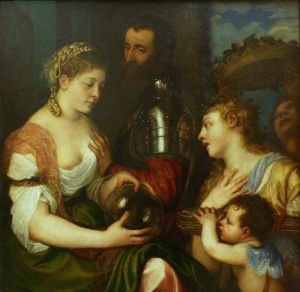 "Paris, Louvre: ""Allegory of Marriage"", Titian, 1533. It has found repetition for centuries."