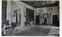 David Adler, Stonehill (called Pierremont), Entrance Hall. The Stonehill family lived at the estate until the Crash of 1929.