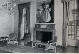 David Adler, Mr/s. Charles A. Stonehill, Glencoe, Illinois, 1911. Music Room. Louis XVI paneling and parquet-de-Versailles flooring with Louis XV furnishings.