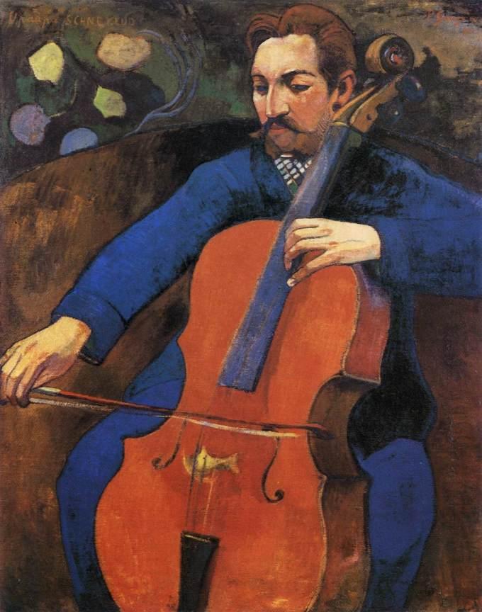 Le violoncelliste (Portrait de Upaupa Schneklud) Baltimore