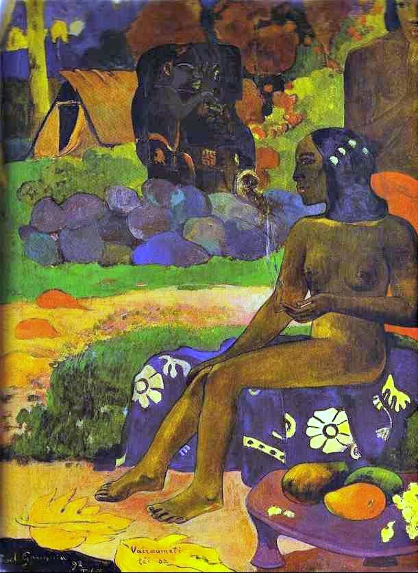Paul Gauguin. Vaïraumati tei oa (Her Name is Vairaumati). 1892. Oil on canvas. The Pushkin Museum of Fine Art, Moscow, Russia.FIXED
