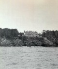 David Adler, Mr/s. Charles A Stonehill, Glencoe, Illinois, 1911. View of house from Lake Michigan.