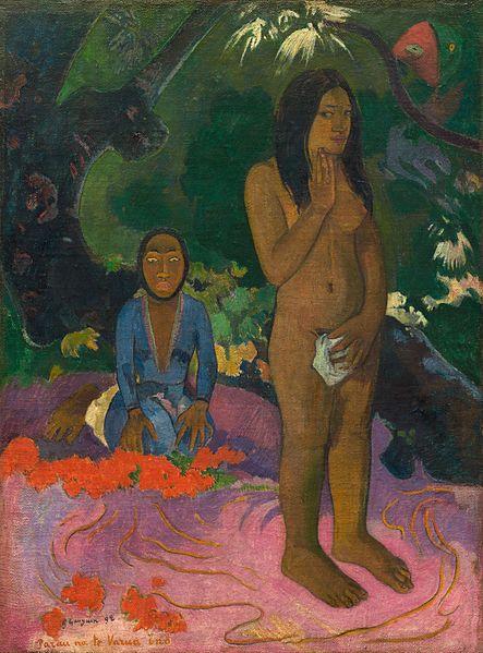 443px-Paul_Gauguin_-_Parau_na_te_Varua_ino_(1892)