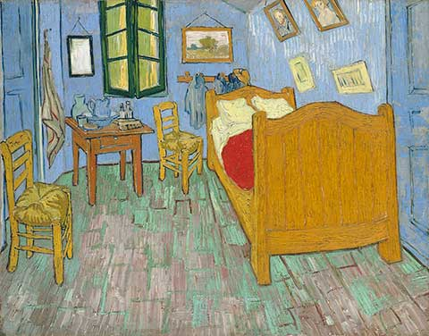 CHGO Vincent van Gogh. The Bedroom, 1889. The Art Institute of Chicago, Helen Birch Bartlett Memorial Collection.exh_vangogh_bedroom_main_480