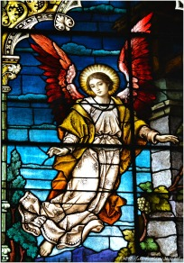 VISITATION WINDOW (detail), 1902, St. Michael Church, Chicago. Franz Mayer & Company, Munich, Germany.