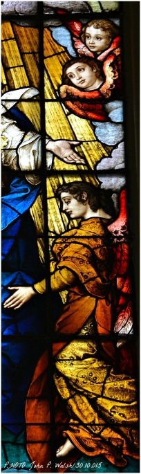 ASSUMPTION WINDOW (central panel/detail), 1902, St. Michael Church, Chicago. Franz Mayer & Company, Munich, Germany.