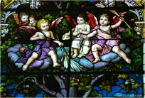 PARABLE WINDOW (detail), 1902, St. Michael Church, Chicago. Mayer & Company, Munich, Germany.
