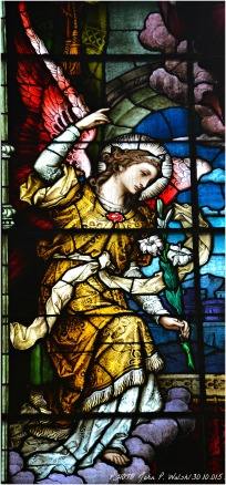 ANNUNCIATION WINDOW (detail), 1902, St. Michael Church, Chicago. Franz Mayer & Company, Munich, Germany.