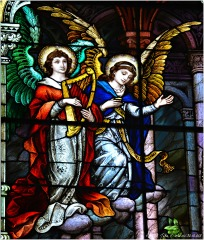 SACRED HEART WINDOW (detail), 1902, St. Michael Church, Chicago. Mayer & Company, Munich, Germany.