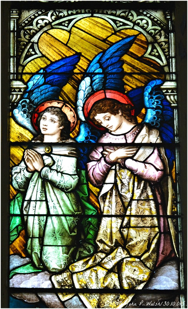 ASSUMPTION WINDOW (central panel/detail), 1902, St. Michael Church, Chicago. Franz Mayer & Company, Munich, Germany- Oct 30, 2015.