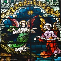 CHRISTMAS WINDOW (detail), 1902, St. Michael Church, Chicago. Franz Mayer & Company, Munich, Germany.
