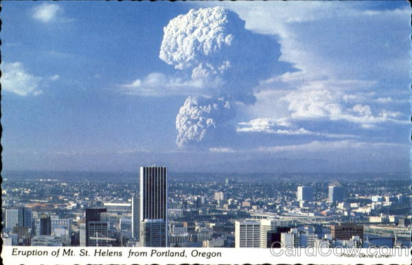 Eruption Of Mt. St. Helens From Portland