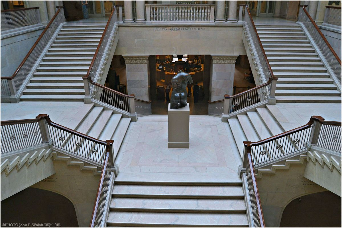 "ENCOUNTERING MAILLOL: A Contemporary Photographic Essay of ""Enchained Action""on the Woman's Board Grand Staircase of The Art Institute of Chicago. (34 Photos)."