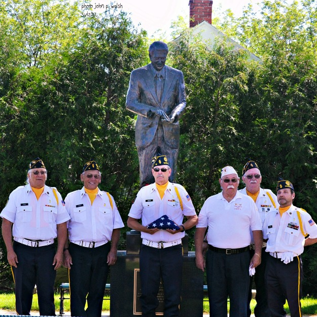 Honor Guard, Ronald Reagan Boyhood Home, Dixon, IL - June 5, 2017. FSB finish sharp crop DSC_0744