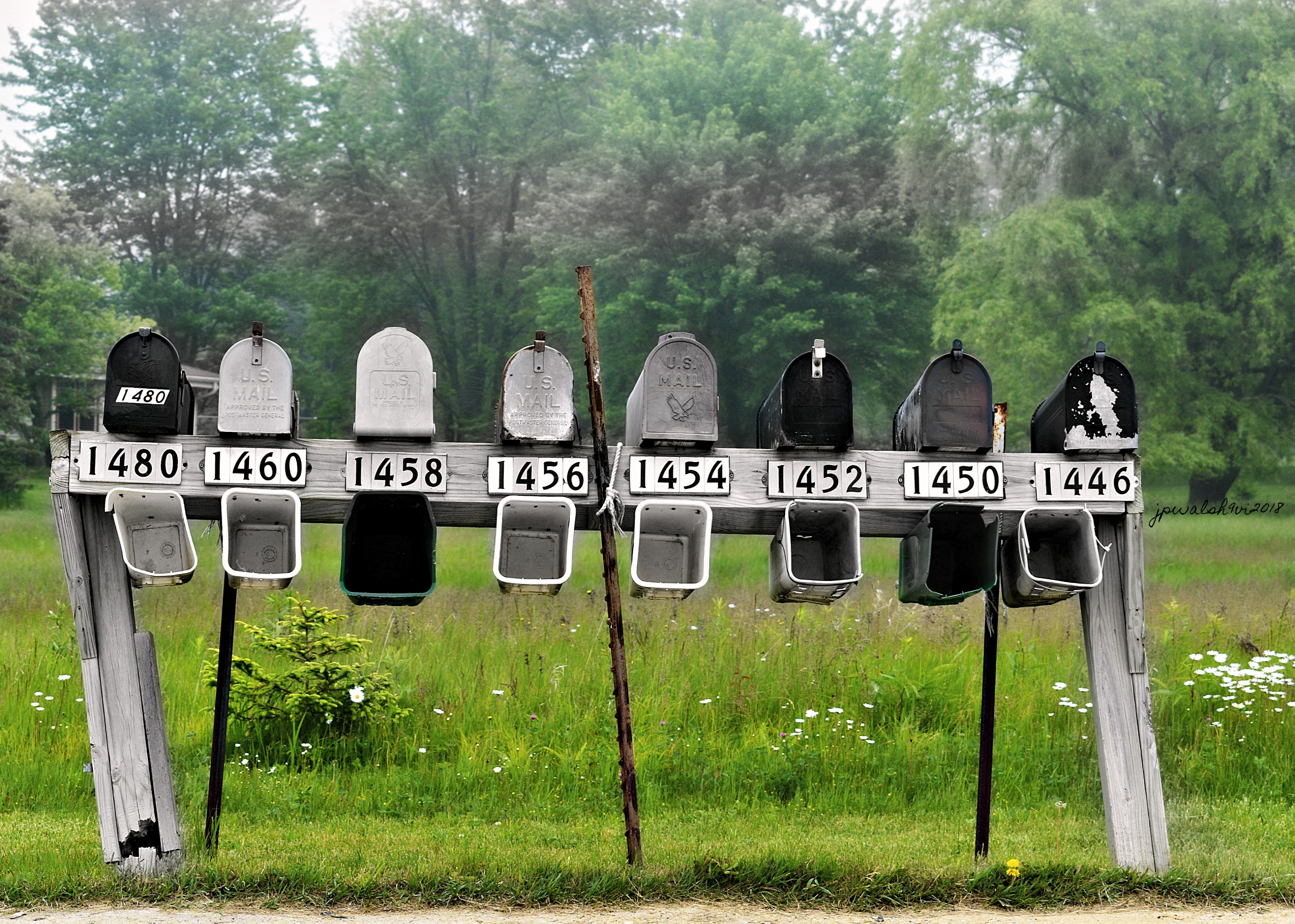 Mailboxes, Ozaukee Co., Wisconsin. June 9, 2018.