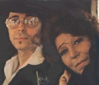Gato Barbieri and Italian-born wife Michelle. Married in 1960 they moved to Rome in 1962, where Gato began collaborating with American jazz trumpeter Don Cherry (1936-1995). This photo: New York City 1974.
