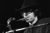 Gato Barbieri's five albums in the late 1970s on A&M Records featured a more soothing jazz-pop sound but he kicked it up a notch in the 1980s for Para Los Amigos (1984), an album which spotlights a rock-influenced South American sound. This photo: Friends of Chile benefit concert, Madison Square Garden, May 6, 1974.