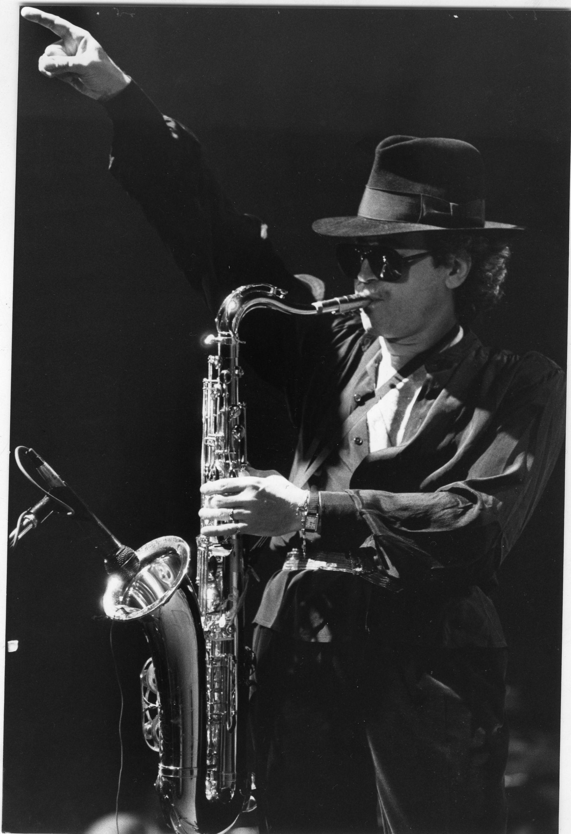 Gato Barbieri in a live performance in 1984