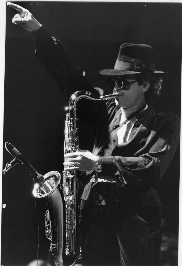 Gato Barbieri in a live performance in 1984