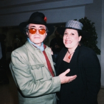 """Gato Barbieri married Laura in 1996 and they soon had a son, Christian. After Gato's death on April 2, 2016 at 83 years old, Laura Barbieri told The Associated Press: """"Music was a mystery to Gato, and each time he played was a new experience for him, and he wanted it to be that way for his audience."""" This photo: taken in 2000."""