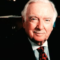 "Walter Cronkite,""the most trusted man in America,"" gives advice to today's news media on what would be his 100th birthday. (8 photographs)."