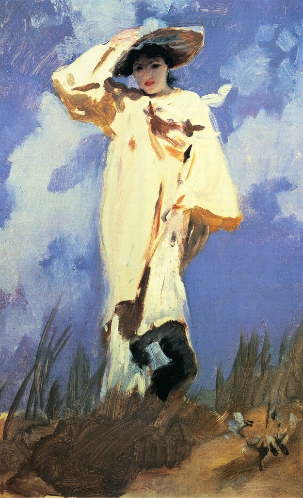 JSS, Judith Gautier or Gust of Wind, c, 1883-1885, private collection, oil on canvas, 24 1/8 x 15 in. (61.3 x 38.1 cm).