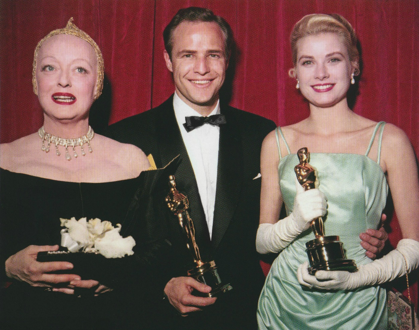 27th Annual Academy Awards Bette Davis presenter, Marlon Brando and Grace Kelly