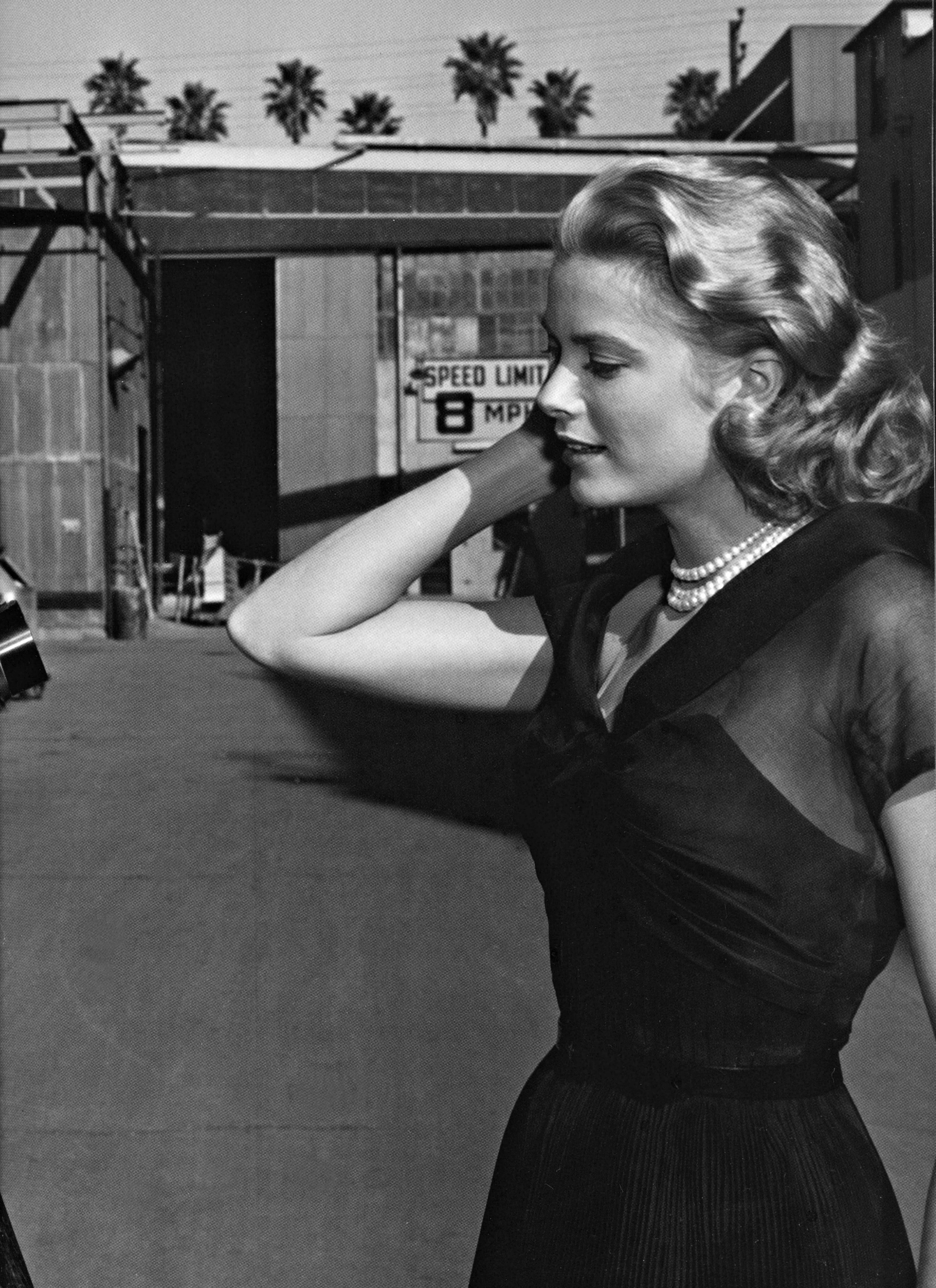 Grace on the set of Rear Window