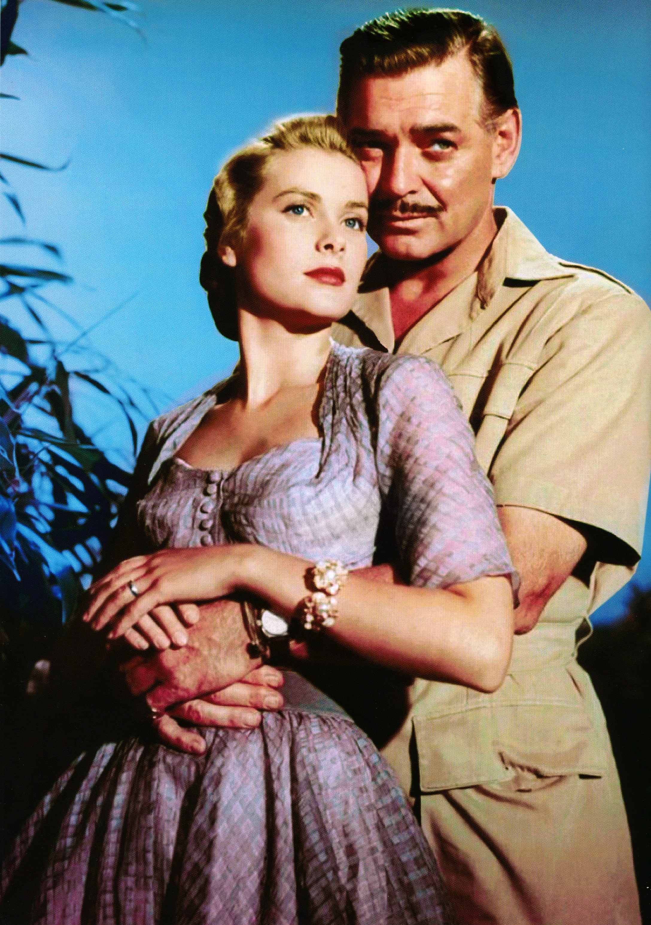 Grace Kelly and Clark Gable Mogambo